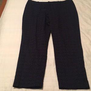 Merona Navy eyelet Capri  pants.